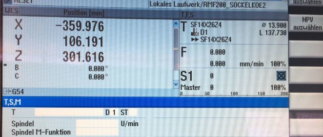 Bildschirm CNC Fräse