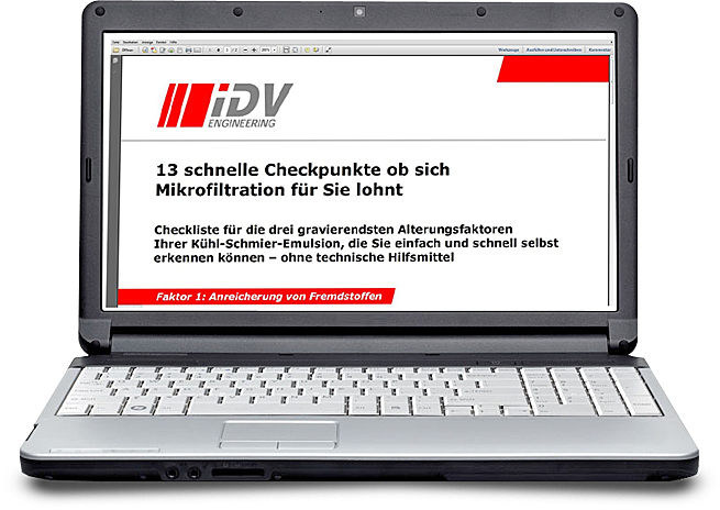 Visu Notebook mit Checkliste
